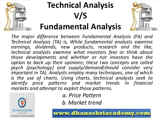 credibility of technical and fundamental analysis Full-text paper (pdf): studying of the credibility of the technical analysis results compared to the fundamental analysis results of stock prices and returns in the egyptian market (by arabic language.