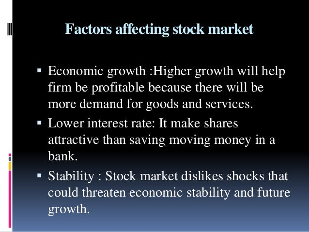 factors affecting share prices Internal factors: 1 cost: while fixing the prices of a product,  share your files  factors affecting pricing product: internal factors and external factors.