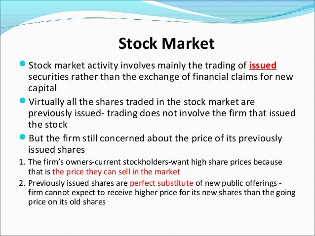 Stock options trading definition
