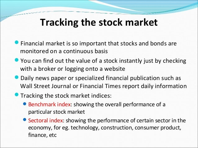 stock market and the economy ppt slides