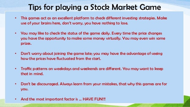 5 Great Games for Learning Stock Market Strategy - Mashable