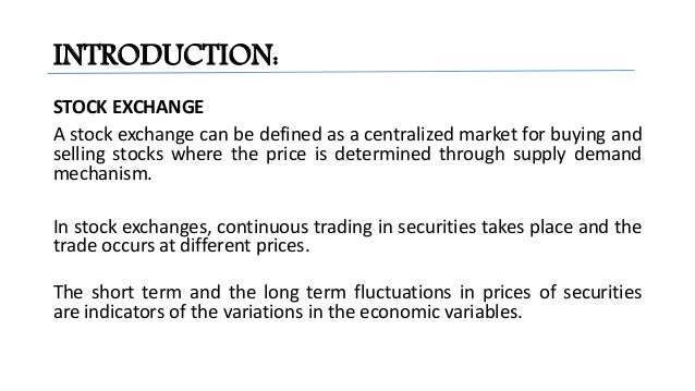 Stock Market Indices & its calculation