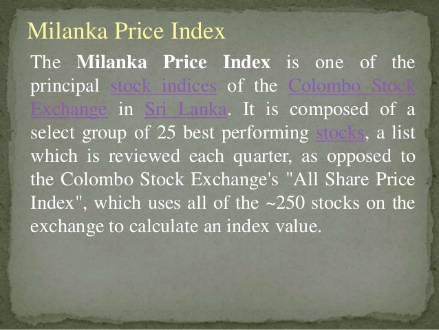Stock Market In Sri Lanka