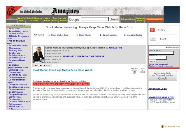 www.amazines.com - Wednesday, June 12, 2013HomeWhatsNew?Submit/ManageArticlesLatestPostsTopRatedArticleSearchSearch Subscr...