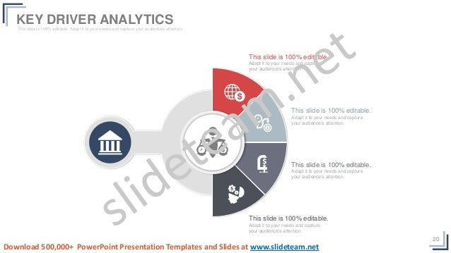 20 KEY DRIVER ANALYTICSThis slide is 100% editable. Adapt it to your needs and capture your audience's attention. This sli...