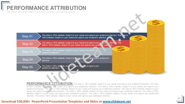 32 PERFORMANCE ATTRIBUTION This slide is 100% editable. Adapt it to your needs and capture your audience's attention. This...