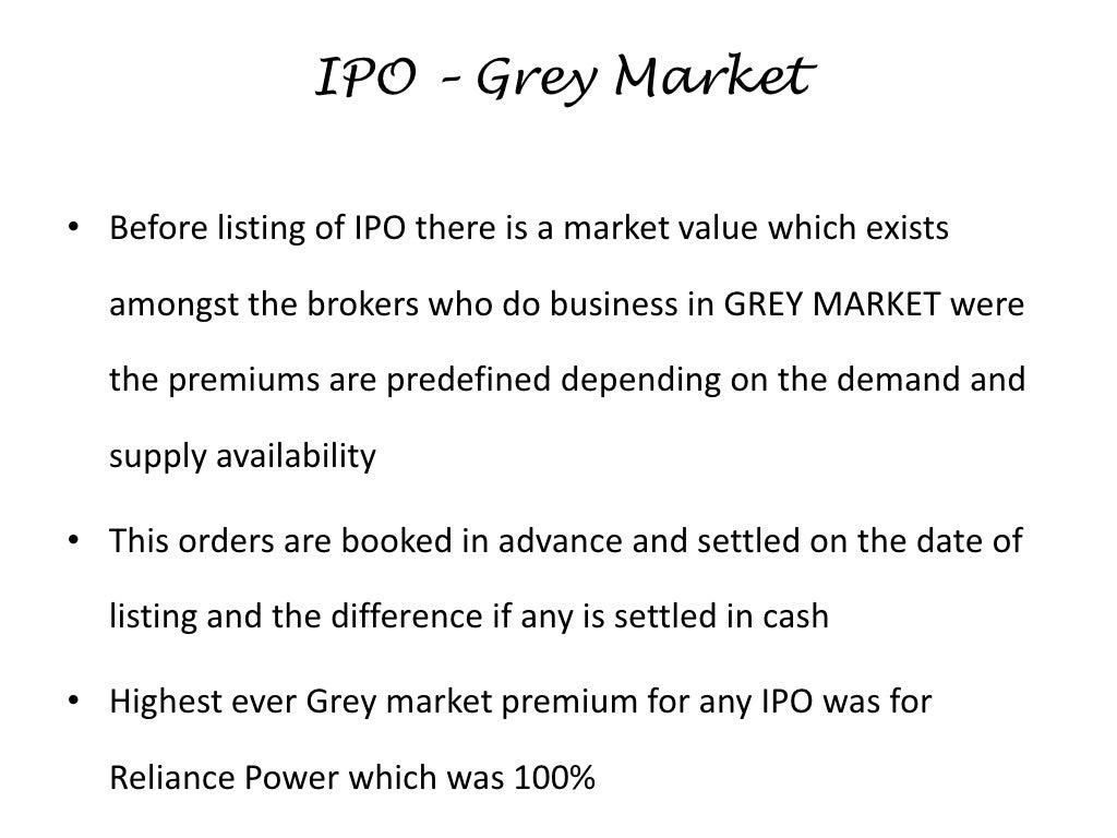 What is grey market premium ipo
