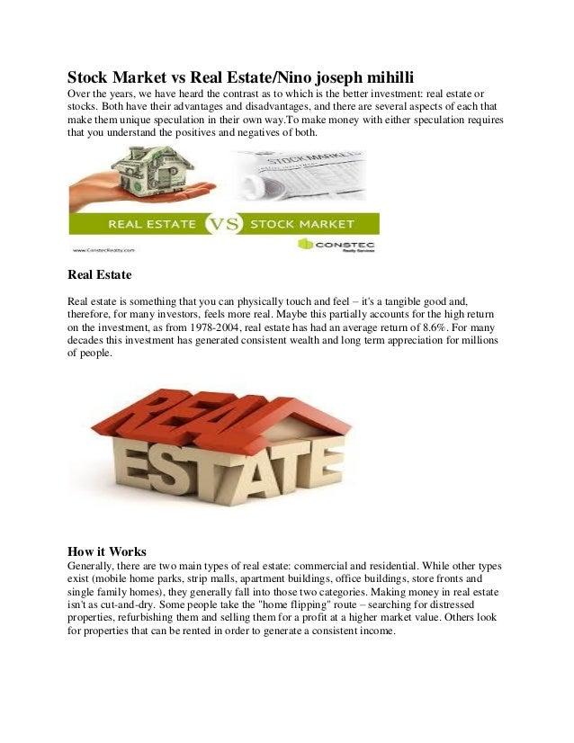 Stock Market Vs Real Estate