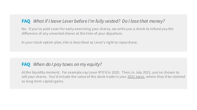 Stock options vested vs unvested
