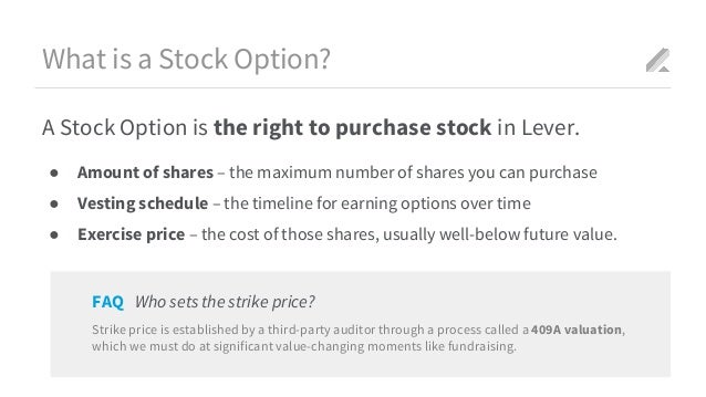 To exercise stock options