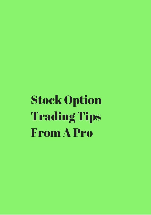 Tips on option trading
