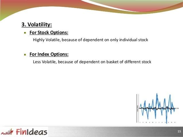 Stock options vs index options