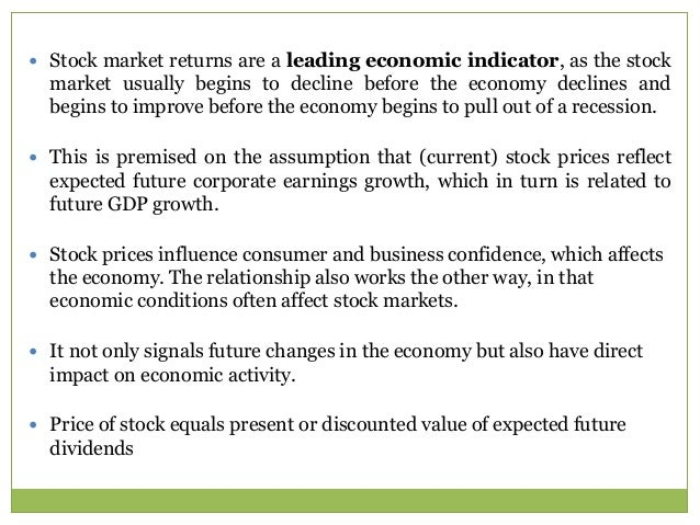 Stock prices as economic indiactor