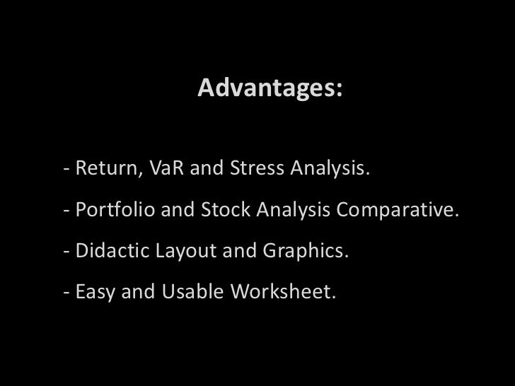 stock return risk and stress analysis woork sheet. Black Bedroom Furniture Sets. Home Design Ideas