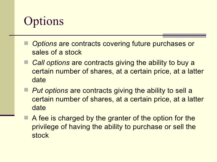 Stock options simplified
