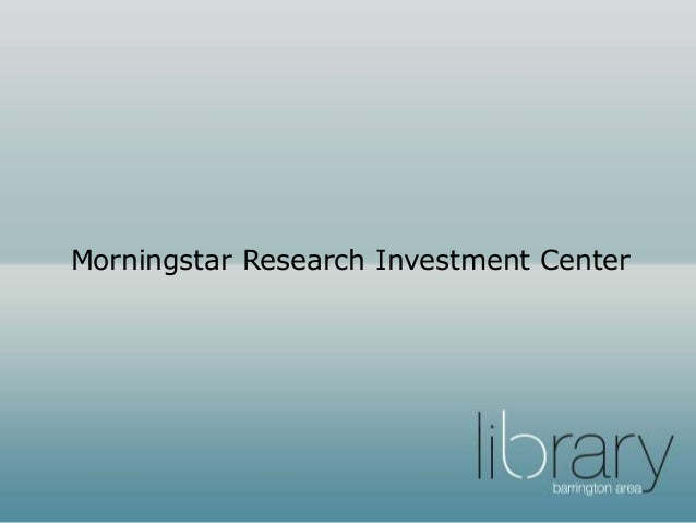 Morningstar Stock, Mutual Fund, Hedge Fund, ETF Investment ...