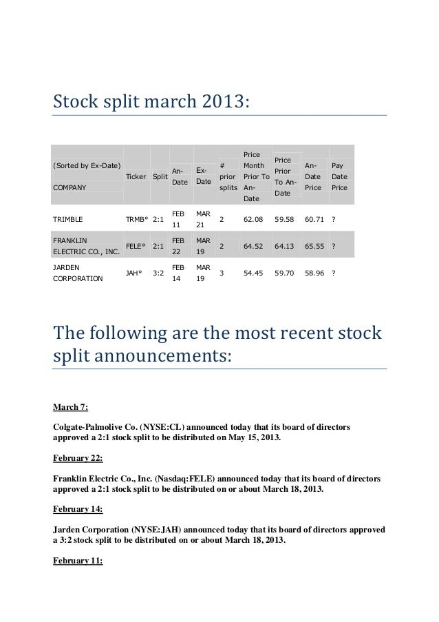 stock split research methodology Nomura research institute ltd (nri), announced that the meeting of the board of directors held july 24, 2015 resolved to implement a stock split and to partially revise the articles of incorporation relating to the stock split described below.