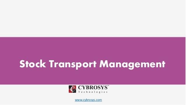 www.cybrosys.com Stock Transport Management
