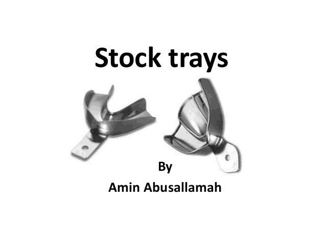 Stock trays By Amin Abusallamah