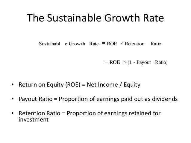 Sustainable Growth Rate - SGR
