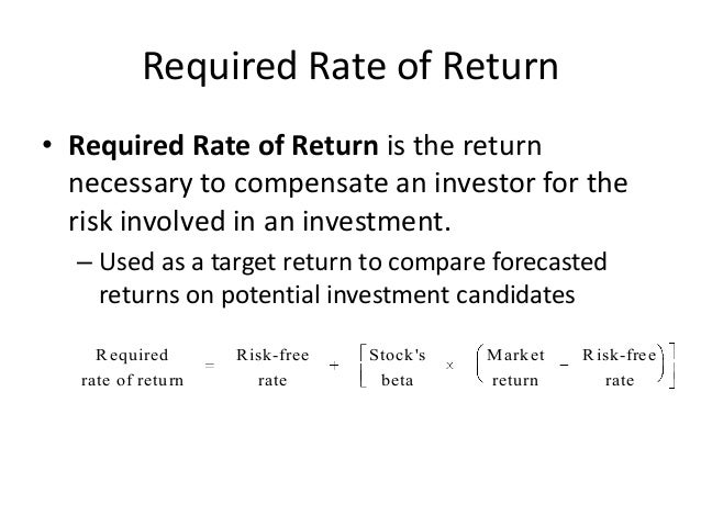 rate of return and stock Understanding your rate of return (ror) is critical to understand your portfolio performances there are just too many ways to do math with stocks but there is only one way to truly calculate the performance of a portfolio.