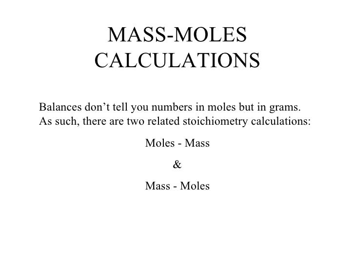 Stoichiometry – Stoichiometric Calculations Worksheet