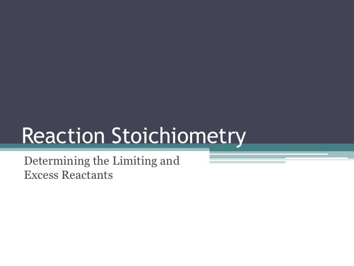 determine the reaction stoichiometry and the Stoichiometry computer simulation new to predict the relative amount of hydrogen gas produced in each reaction students determine the limiting reagent.