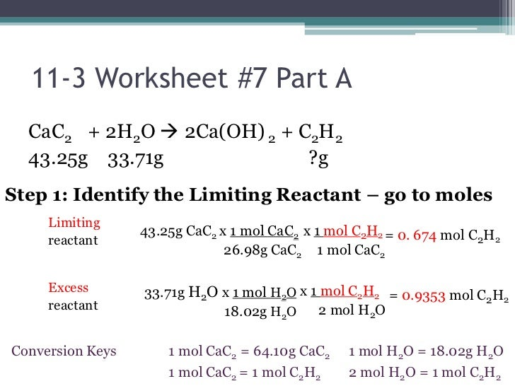 Printables Limiting Reactant Worksheet limiting reactant problems worksheet pichaglobal