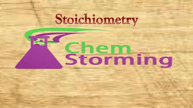 """What we are going to cover : ØWhat's """"STOICHIOMETRY"""" meaning? ØDefinition of Stoichiometry ØExample to simplify the ..."""
