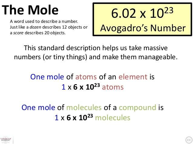 Stoichiometry & The Mole