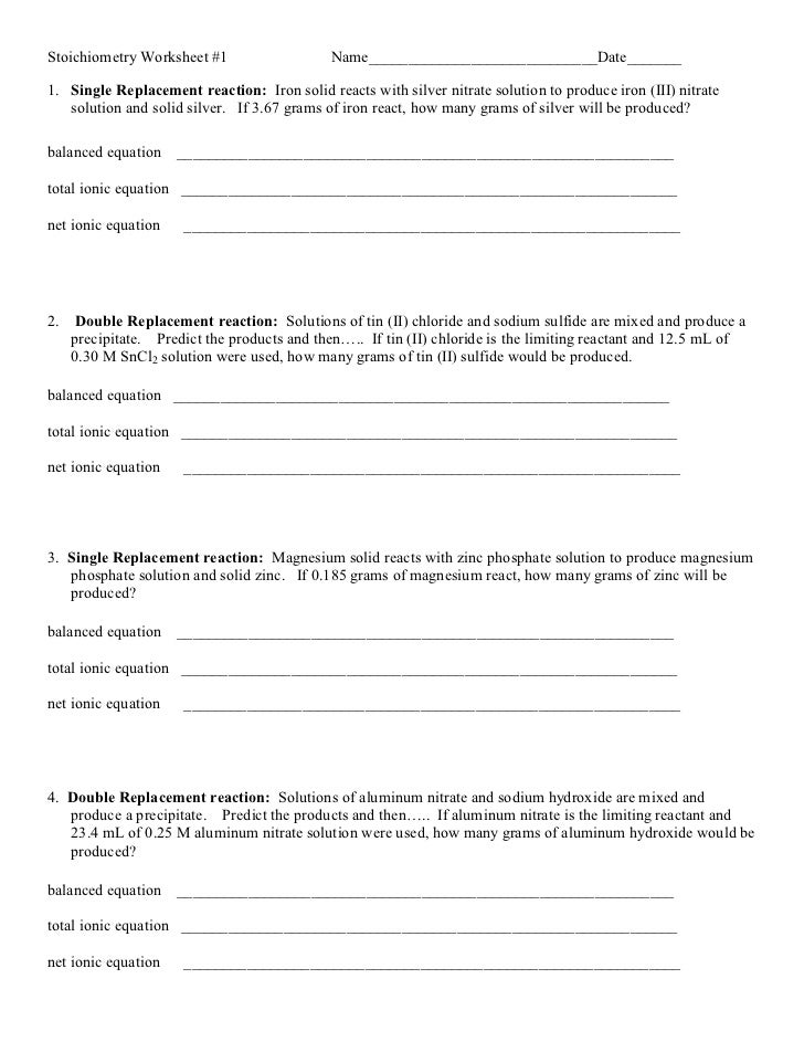 Single Replacement Reactions Worksheet Delibertad – Single Replacement Reaction Worksheet