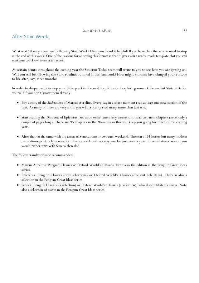 The stoics essay