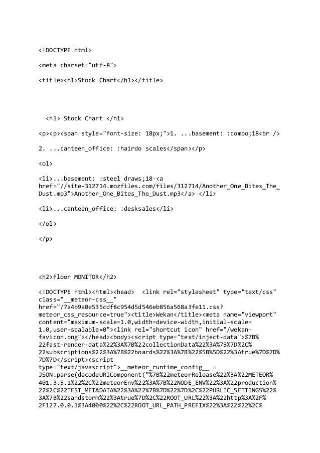 """<!DOCTYPE html> <meta charset=""""utf-8""""> <title><h1>Stock Chart</h1></title> <h1> Stock Chart </h1> <p><p><span style=""""font-..."""