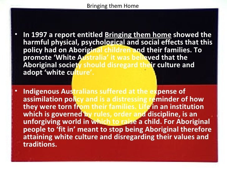 effects on the stolen generation