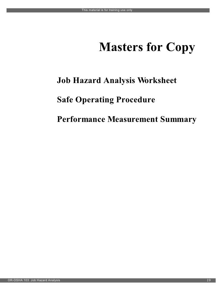 Job Hazard Analysis – Job Hazard Analysis Worksheet