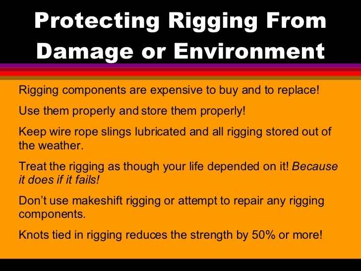 Safe Rigging Training