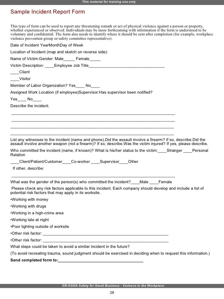 harassment incident report sample - Boat.jeremyeaton.co