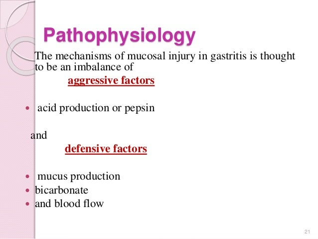 Erosion of the stomach: etiology and pathogenesis