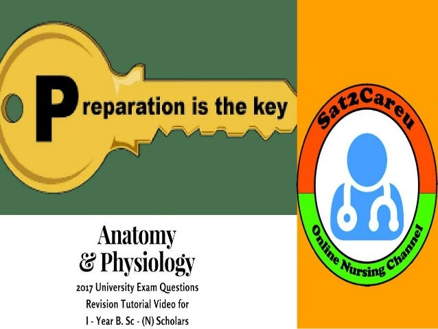 Anatomy & Physiology 2017 Question Paper Revision Part - 2