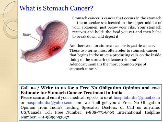 Stomach Cancer Treatmentinindia