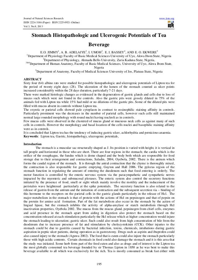 Journal of Natural Sciences Research www.iiste.org ISSN 2224-3186 (Paper) ISSN 2225-0921 (Online) Vol.3, No.8, 2013 195 St...
