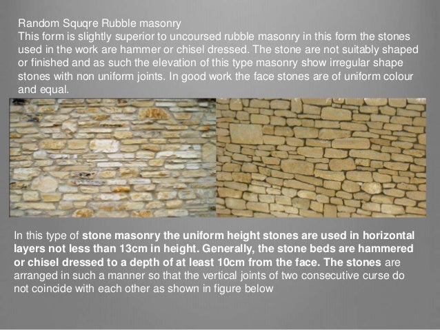 Stone as a building material.