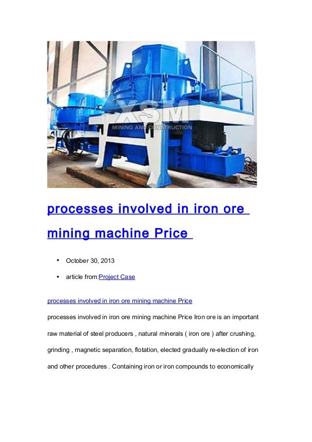 Natural Resources Needed For Machine Production