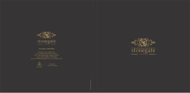 Stonegate Brochure Furnished Apartment Building Shops At Vadodara