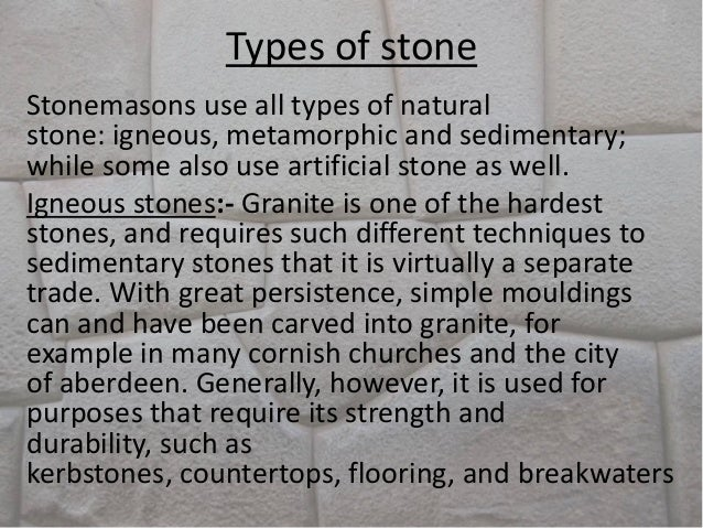 Stone masonry for Different types of stone for houses