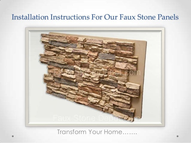 how to install diy faux stone panels. Black Bedroom Furniture Sets. Home Design Ideas