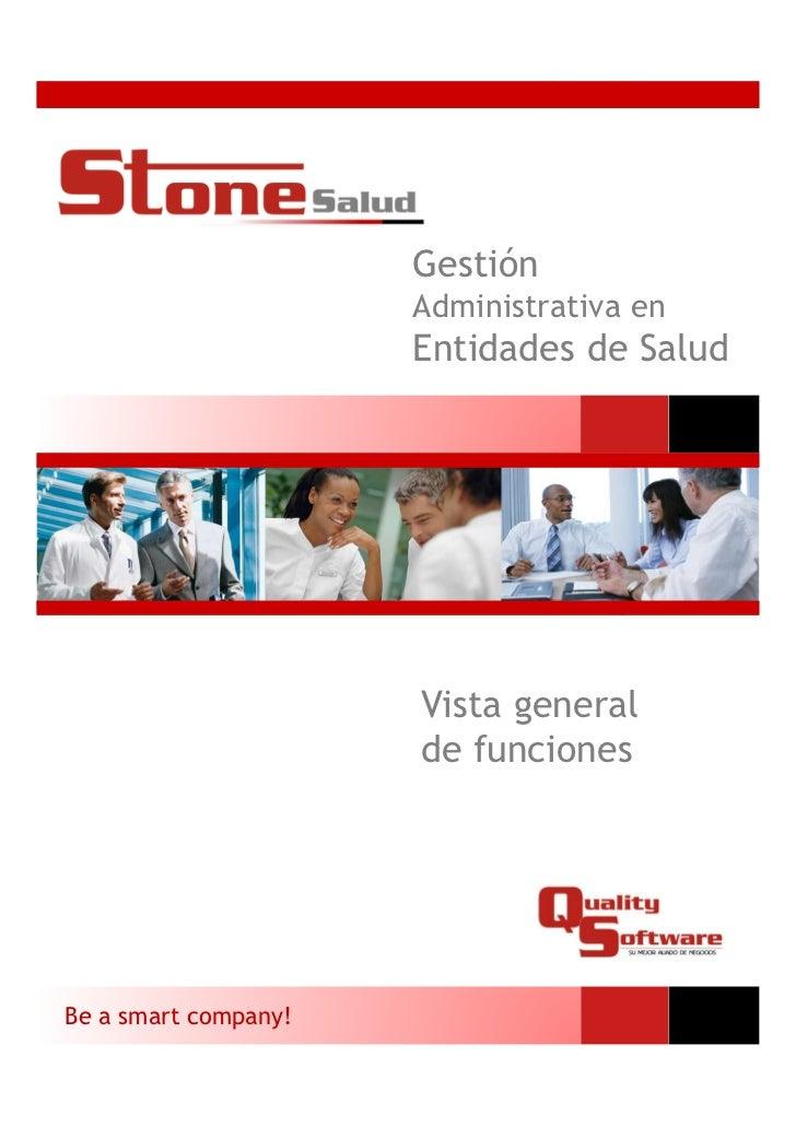 Gestión                      Administrativa en                      Entidades de Salud                      Vista general ...