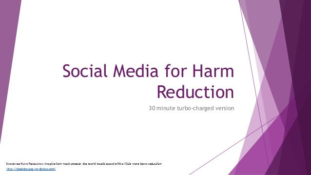 Social Media for Harm Reduction 30 minute turbo-charged version