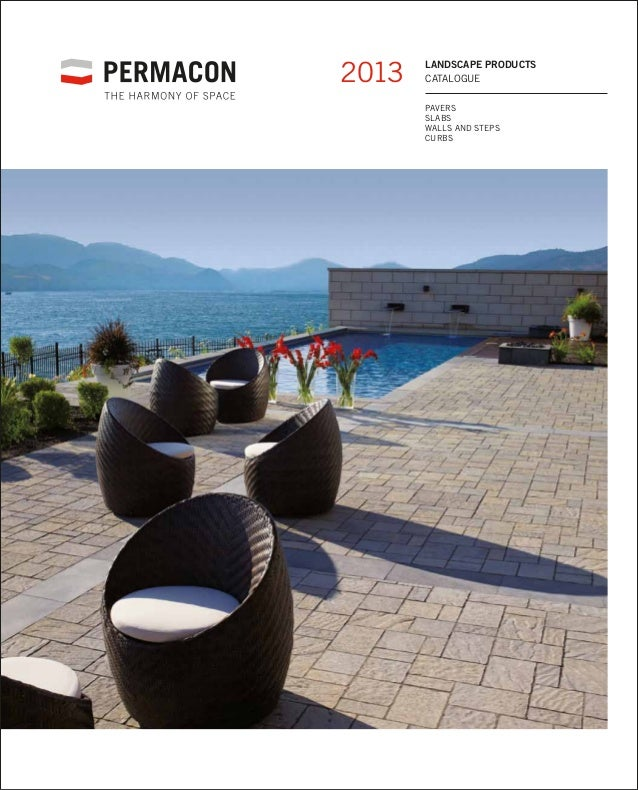 2013   landscape products       catalogue       Pavers       Slabs       Walls and steps       Curbs