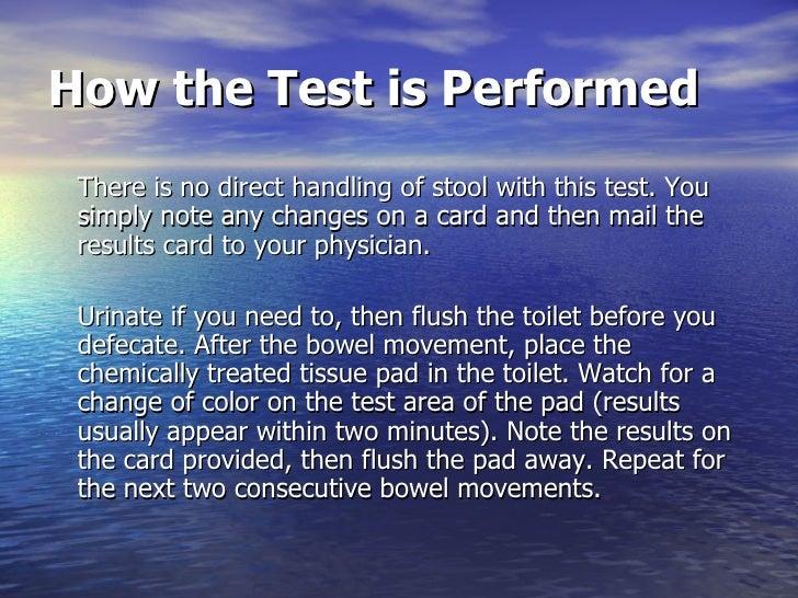 Stool Occult Blood Test
